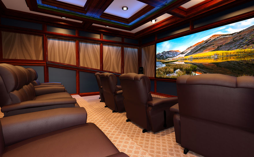 The Science Behind Watching a Movie on a Projection Screen