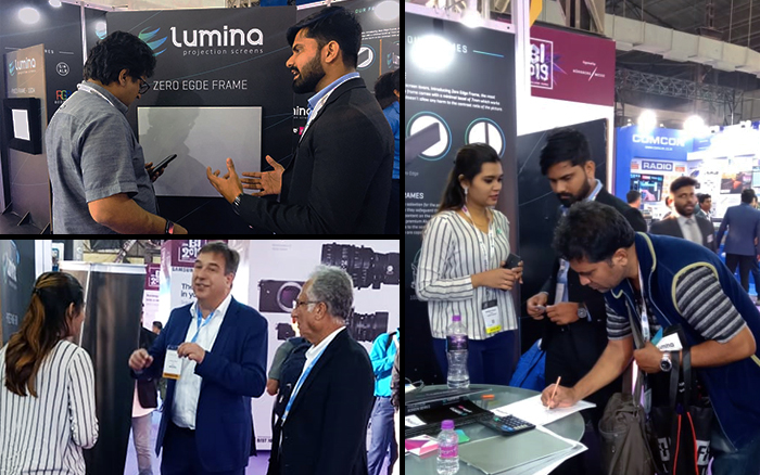 LUMINA screens at Broad cast India Show