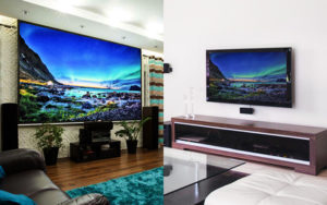 TV vs Projection screens